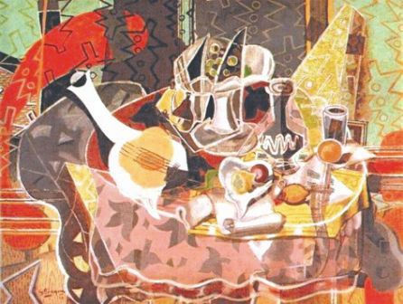8 01 2012 tableau et citation du peintre georges braque for Braque peintre